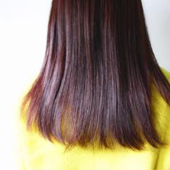 ロング ピンク ナチュラル モーブ ヘアスタイルや髪型の写真・画像