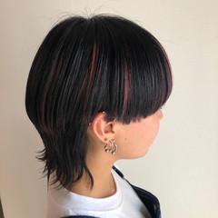 モード ハイライト ウルフ女子 マッシュウルフ ヘアスタイルや髪型の写真・画像