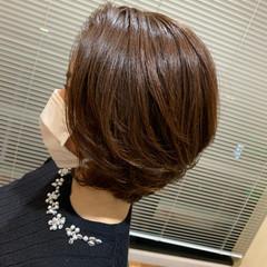 大人ショート レイヤースタイル ショートボブ ナチュラル ヘアスタイルや髪型の写真・画像