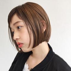 切りっぱなし ガーリー 色気 ボブ ヘアスタイルや髪型の写真・画像