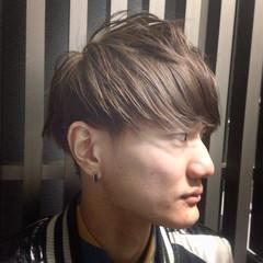 ショート メンズ アッシュ ウェットヘア ヘアスタイルや髪型の写真・画像