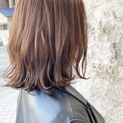 ボブ 秋ブラウン 大人可愛い 切りっぱなしボブ ヘアスタイルや髪型の写真・画像