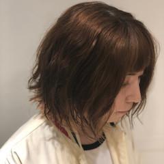 切りっぱなし 簡単ヘアアレンジ ナチュラル インナーカラー ヘアスタイルや髪型の写真・画像