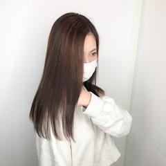 ストレート 髪質改善トリートメント 髪質改善 ロング ヘアスタイルや髪型の写真・画像