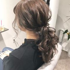 ナチュラル ヘアアレンジ ポニーテール デート ヘアスタイルや髪型の写真・画像