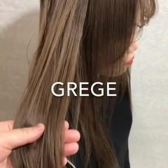ナチュラル ヘアアレンジ ミルクティー カジュアル ヘアスタイルや髪型の写真・画像