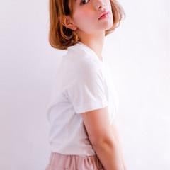 透明感 ガーリー フェミニン ボブ ヘアスタイルや髪型の写真・画像