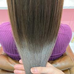トリートメント 艶カラー 髪質改善トリートメント ナチュラル ヘアスタイルや髪型の写真・画像