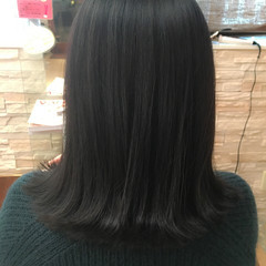 ネイビー ナチュラル 黒髪 暗髪 ヘアスタイルや髪型の写真・画像