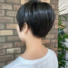 大人ショート ナチュラル イルミナカラー ショート ヘアスタイルや髪型の写真・画像