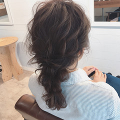 結婚式 ヘアアレンジ デート ナチュラル ヘアスタイルや髪型の写真・画像