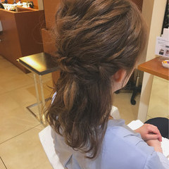 結婚式 ミディアム ヘアアレンジ ブライダル ヘアスタイルや髪型の写真・画像