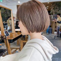 ショートヘア ミニボブ 大人可愛い ショートボブ ヘアスタイルや髪型の写真・画像