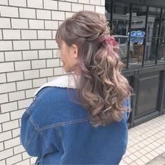 デート ガーリー ヘアアレンジ 大人かわいい ヘアスタイルや髪型の写真・画像