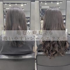 ナチュラル ロング 韓国風ヘアー 大人ロング ヘアスタイルや髪型の写真・画像