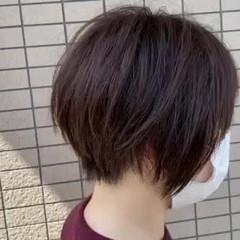 ナチュラル ショートカット 丸みショート ショートヘア ヘアスタイルや髪型の写真・画像