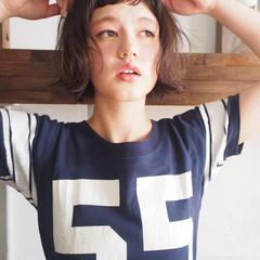 前髪あり レイヤーカット ストリート パーマ ヘアスタイルや髪型の写真・画像