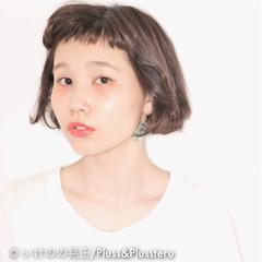 ショート イルミナカラー オン眉 暗髪 ヘアスタイルや髪型の写真・画像