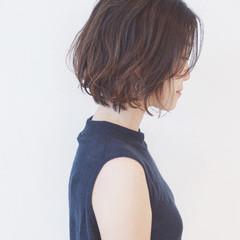 ナチュラル 簡単 ショートボブ ショート ヘアスタイルや髪型の写真・画像