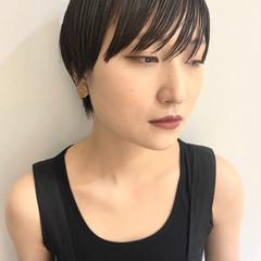 ハンサムショート マッシュショート 黒髪ショート ショート ヘアスタイルや髪型の写真・画像