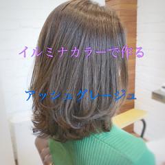 アウトドア ミディアム ヘアアレンジ パーマ ヘアスタイルや髪型の写真・画像