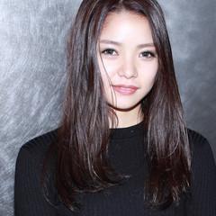黒髪 ロング イルミナカラー 暗髪 ヘアスタイルや髪型の写真・画像