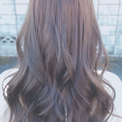フェミニン ロング チョコレート ゆる巻き ヘアスタイルや髪型の写真・画像