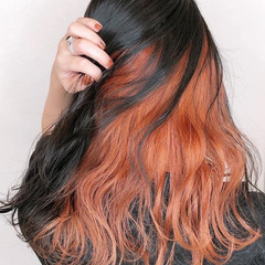 髪質改善トリートメント インナーカラー 髪質改善カラー ロング ヘアスタイルや髪型の写真・画像