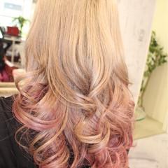 ピンク モード ヌーディーベージュ ハイトーン ヘアスタイルや髪型の写真・画像