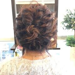 波ウェーブ 結婚式 パーティ ヘアアレンジ ヘアスタイルや髪型の写真・画像