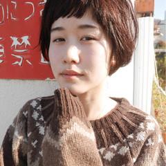 かわいい ナチュラル ショート 前髪あり ヘアスタイルや髪型の写真・画像