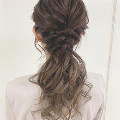 結婚式 簡単ヘアアレンジ 大人可愛い ガーリー ヘアスタイルや髪型の写真・画像