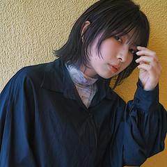 ウルフカット モード ミニボブ ボブウルフ ヘアスタイルや髪型の写真・画像