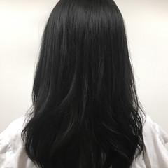 レイヤーカット セミロング 黒髪 ミディアム ヘアスタイルや髪型の写真・画像