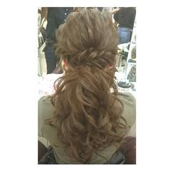 外国人風 大人女子 ガーリー ヘアアレンジ ヘアスタイルや髪型の写真・画像