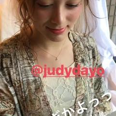 結婚式 ガーリー ミディアム ヘアアレンジ ヘアスタイルや髪型の写真・画像