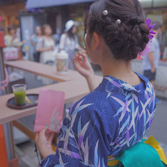 夏 涼しげ 和装 お祭り ヘアスタイルや髪型の写真・画像