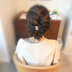 アップ 結婚式 ヘアアレンジ ヘアセット ヘアスタイルや髪型の写真・画像