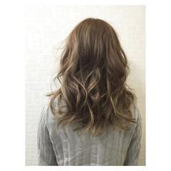 ストリート 外国人風 アッシュ ロブ ヘアスタイルや髪型の写真・画像