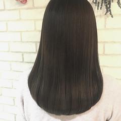 トリートメント 縮毛矯正 ナチュラル セミロング ヘアスタイルや髪型の写真・画像