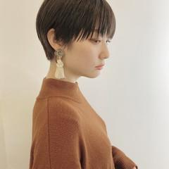 小顔ショート ナチュラル ショートヘア ショートボブ ヘアスタイルや髪型の写真・画像