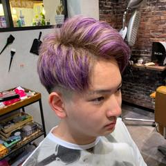派手髪 ハイライト ショート ブリーチ ヘアスタイルや髪型の写真・画像