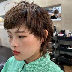 ウルフ ストリート ウルフカット ブリーチ ヘアスタイルや髪型の写真・画像