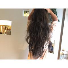 アッシュ ハイライト 暗髪 ストリート ヘアスタイルや髪型の写真・画像