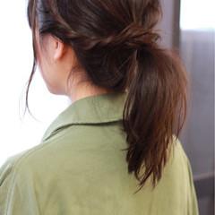 ヘアアレンジ ストリート 大人かわいい 黒髪 ヘアスタイルや髪型の写真・画像