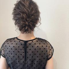 結婚式 ねじり ヘアセット アップ ヘアスタイルや髪型の写真・画像