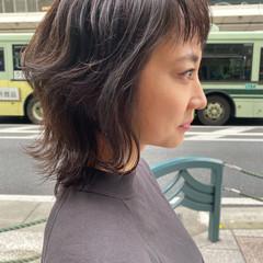 ストリート ニュアンスウルフ ナチュラルウルフ ショート ヘアスタイルや髪型の写真・画像