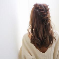 ガーリー ショート 簡単ヘアアレンジ ロング ヘアスタイルや髪型の写真・画像
