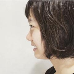 ボブ ガーリー 外国人風 アッシュ ヘアスタイルや髪型の写真・画像