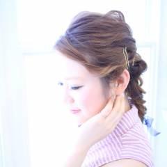 大人かわいい 愛され フィッシュボーン ヘアアレンジ ヘアスタイルや髪型の写真・画像